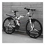 YCHBOS Mountain Bike Adulto, Bicicletas Montaña 24/26 Pulgadas Doble Suspension, 27 Velocidad Bicicleta Montaña...