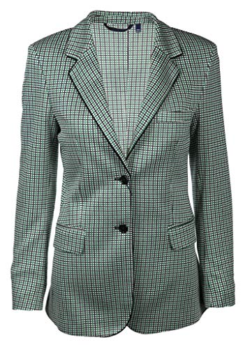 GANT Damen Modern Karierter Blazer Größe 42 EU Grün (grün)