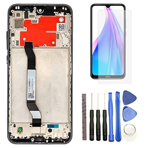 Hypak Pantalla IPS LCD para Xiaomi Redmi Note 8T (Completa con Marco) Repuesto Cristal Tactil Digitalizador (Gris)