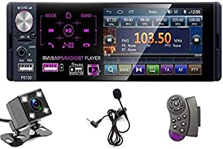 "OiLiehu Single Din Car Stereo Radio, 12V 4.1"" Car MP5 Player with Bluetooth Audio & Hands-Free Calling, FM AM Receiver USB/AUX-in/SD Card Port + Steering Remote Control & Backup Camera"