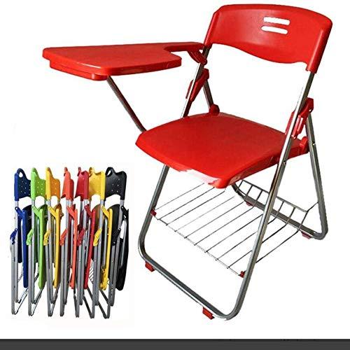 Dongbin Bewegliche Schnalle Stuhl mit Schreibtafel Bürositzung schriftlich L-förmigen Stuhl freier Installation Tisch und Stuhl integrierte Student Klappstuhl 42 * 46,5 * 80.5CM,D