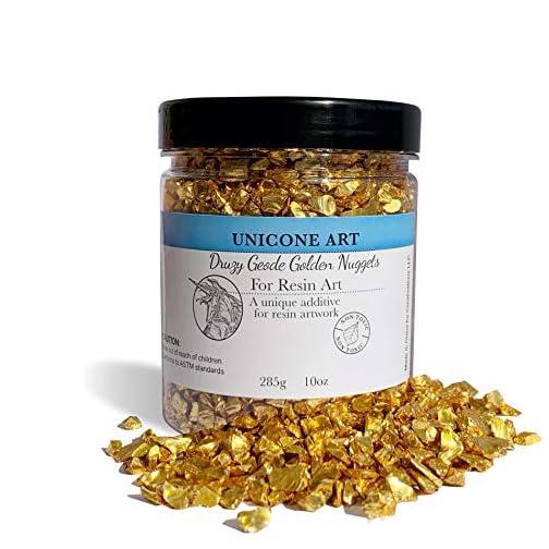 Unicone Art Druzy Geode Golden Nuggets for Resin Art (10 oz.) |