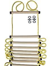 NiroSport Gebreide ladder voor kinderen en volwassenen, tot 80 kg, voor binnen en buiten, TÜV-getest, Made in Germany