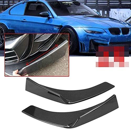 1 par de difusor de parachoques del parachoques del labio del divisor del parachoques delantero universal del coche, aspecto de fibra de carbono, aspecto de fibra de carbono, aspecto de fibra de car