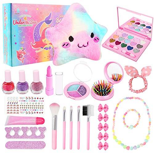Joyhoop Maquillaje para Niñas, Maquillaje Niñas Cosméticos Lavables, Regalo de Princesa para Niñas en Fiesta Cumpleaños y Juguetes de Maquillaje.