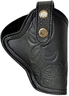 Snipper PU Leather .32 Bore Engraved Pistol Black Free Size Clip Cover