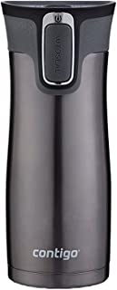 Contigo Autoseal West Loop 16 oz Stainless Steel Travel Mug with Easy Clean Lid, Gunmetal