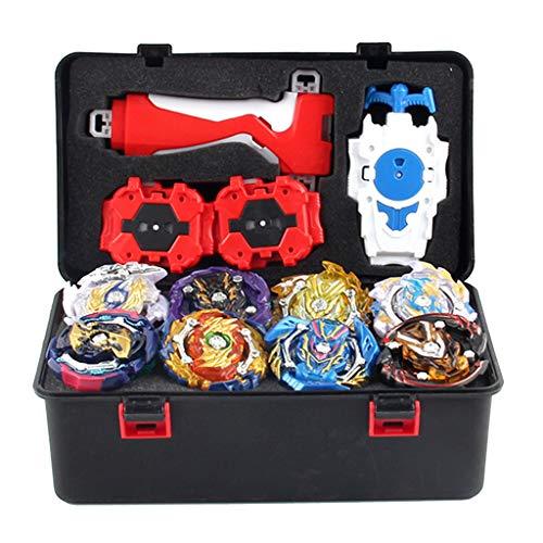 MagiDeal 12 Stück Gyro Burst Starter Kampfkreisel Set, 4D Fusion Kreisel Kinder Spielzeug mit String Launcher+Schwertwerfer+Launcher Grip+Aufbewahrungsbox