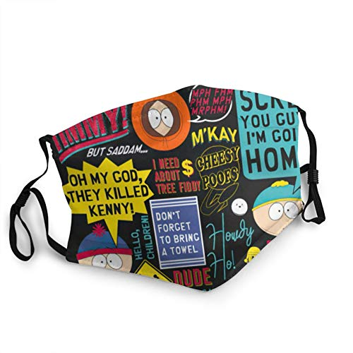 South Park Cloth Face Mask Outdoor Reusable Covering with Replaceable for Men Women