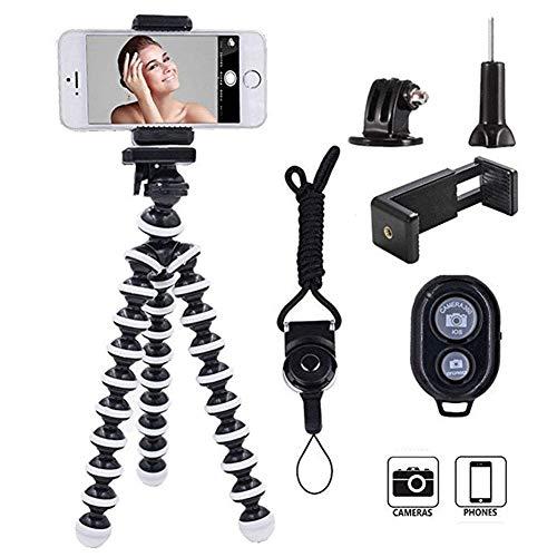ZWWZ Teléfono de la cámara del trípode, sostenedor del Soporte de la cámara portátil y Ajustable for DSLR SLR compatibles y iPhone teléfono Android MISU