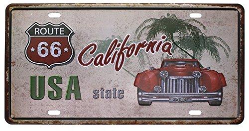 Eureya New Jersey Vnl 96d Bo/îte de plaque dimmatriculation plaque en m/étal vintage plaque Poster Bar Pub Home D/écor mural 6x12