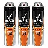 Degree Men Antiperspirant Deodorant Dry Spray, Adventure, 3 Count