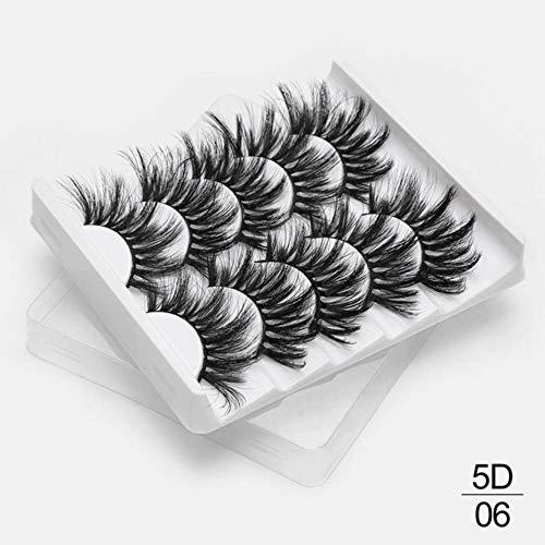 KADIS 5/13pairs Faux 3D Lashes Natural Long False Eyelashes Volume Fake Lashes Makeup Extension Eyelashes,5D06