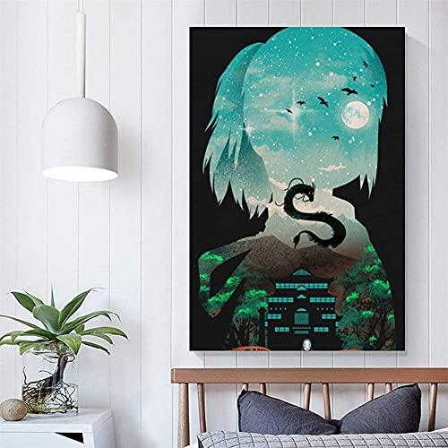 ZKDT Spirited Away Anime Poster Art Online Print Wall Living Room Bedroom Decoration (Unframed, 16 x 24 inch?40 x 60 cm?)