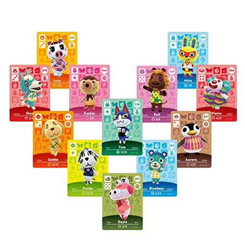 24Pcs ACNH Animal Crossing Series 1-4 NFC Game Cards New Horizons Villagers Cards