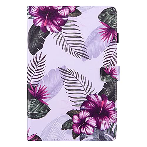 iPad Air 4 iPad Air 4th Generation 10.9 2020 Case, PU Leather Smart Cover with Auto Wake/Sleep & Stand Function Pen Holder Wallet Protective Shockproof Case for iPad 10.9' Tablet, Purple Flower