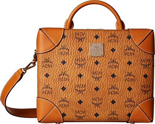 The MCM™ Soft Berlin Visetos Crossbody Medium handbag is ideal for stylish everyday use. Crossbody made of textured visetos coated canvas. Spacious bi-fold style opening with gold-tone, engraved clasp closure. Wrapped top carry handle. Adjustable cro...
