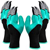 Gardening Gloves Waterproof Garden Gloves with Claw for Digging Planting, Best Gardening Gifts for Women and Men - 2 Pairs