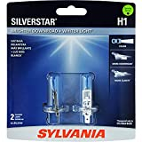 SYLVANIA - H1ST.BP2 H1 SilverStar High Performance Halogen Headlight Bulb, (Contains 2 Bulbs)