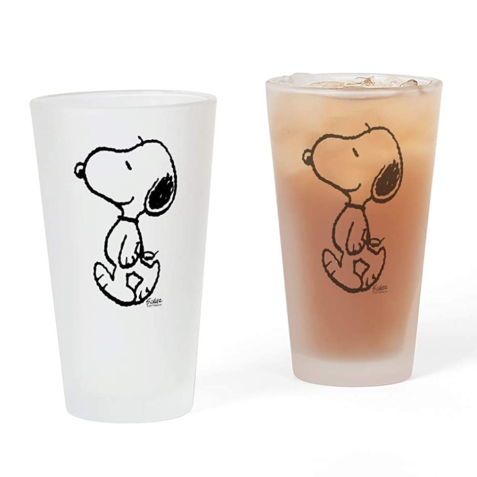 CafePress Peanuts Snoopy Pint Glass, 16 oz. Drinking Glass
