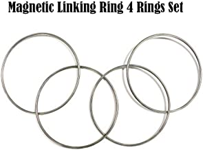 Large Size Magnetic Linking Ring 4 Rings Set(Dia. 30cm,Stainless Steel) Magic Tricks Funny Stage Magic Illusions Gimmick Accessories Magic Props Magicians