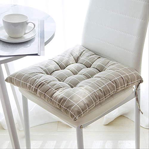 Zonder zitkussen bedrukt voor bureaustoel, barkrukkussen voor achterbank, zitkussen, stoelkussen voor kantoor 50x50cm Griglia Grigia