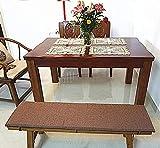 XCTLZG Cojín de esponja de alta calidad, cojín duradero para silla de jardín al aire libre con correa antideslizante, cómoda alfombrilla de asiento de 2 a 3 plazas, cojín para silla de tumbona