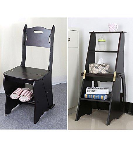 WUDENG Chaises à échelle multifonction Nordic Creative à quatre couches Chaise en bois massif pliable multicouches Escaliers Escalier Tabouret Tabouret (Couleur : B)