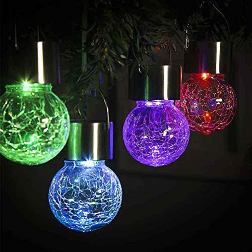 Yesheng Luces solares de cadena de jardín, bola de cristal impermeable LED luces de hadas al aire libre, luces solares accionadas para el hogar, jardín, fiesta, festival