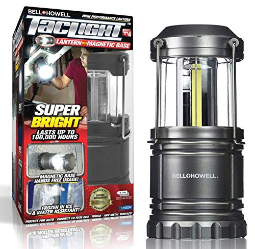 Bell Howell Taclight Cob Led Camping Lantern Super Bright Portable Survival Lanterns Collapsible and Emergency Light for Hurricane Storms Outages and Outdoor as Seen on TV
