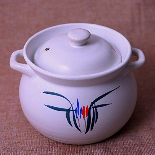 Kasserolle, Suppentopf Ges&heit Übertopf Porzellan, keramik, weiß, (6L) UK