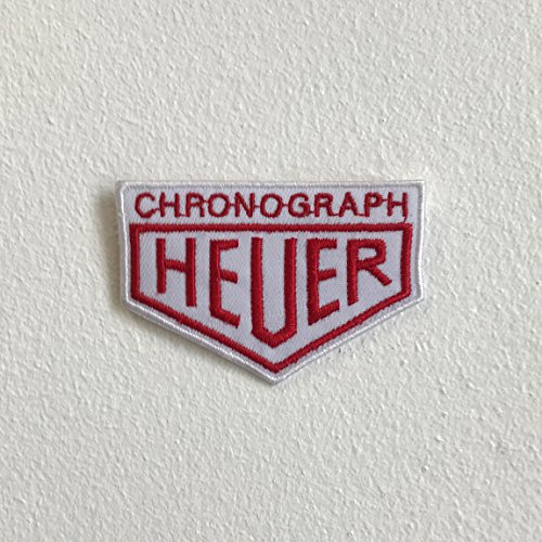 Chronograaf Heuer horloges badge ijzer naaien op geborduurde patch
