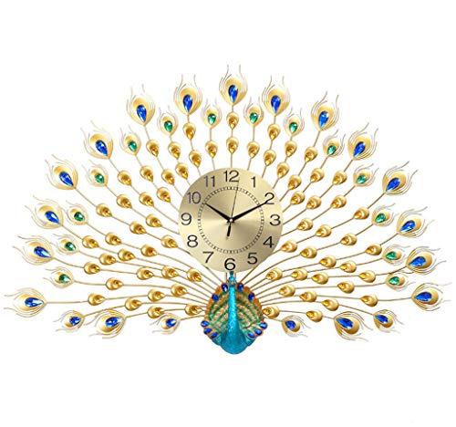 Pfau wanduhr, kreative Dekoration kristall quarzuhr, geeignet für Veranda, esszimmer, Wohnzimmer