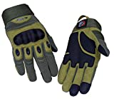Riparo Tactical Full Finger Fingerless Touchscreen Military Shooting Hunting Rubber Outdoor Gloves (X-Large, Army Green)