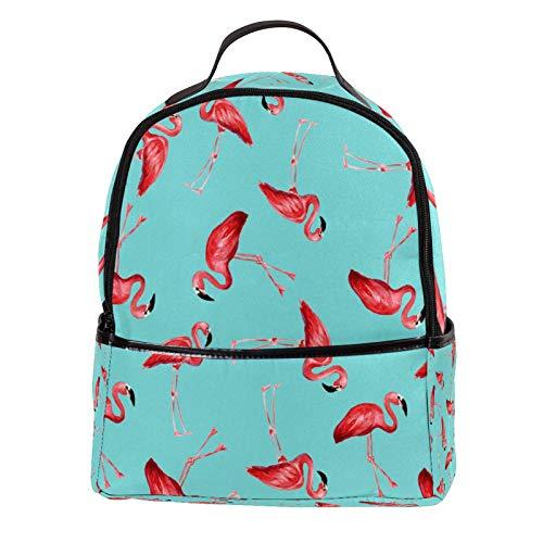 KAMEARI Mochila para la Escuela de Flamencos Rojo Sangre Pintura Casual Daypack para Viajes con Botellas Bolsillos Laterales