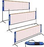 Portable Badminton Net Set - Adjustable Height Net for Tennis, Soccer Tennis, Pickleball