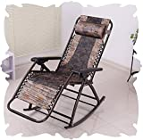 Juflix Folding Zero Gravity Chairs with Canopy, Sun Lounger Recliner for Beach Patio Garden Camping Outdoor