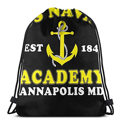 Hdadwy United States Naval Academy Sport Bag Gym Sack Drawstring Backpack for Gym Shopping