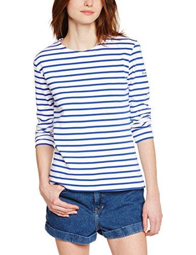 Armor Lux Damen T-Shirt 4277 Gestreift, Mehrfarbig (Dw5 Mehrfarbig/Étoile), 44 (Herstellergröße: 4)