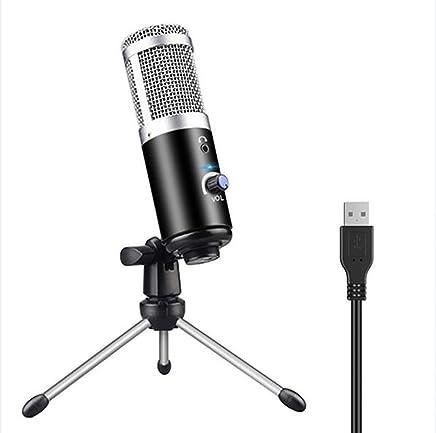 HYFZY Microfono USB, Microfono a Condensatore Professionale Plug & Play Microfono a condensatore per Skype, registrazioni di Youtube, Google Ricerca vocale, Giochi (Windows/Mac) - Trova i prezzi più bassi