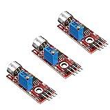 Comidox 3Pcs High Sensitivity Microphone Sensor AVR PIC Sound Detection Module for Arduino