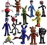 Set of 12 pcs Five Nights at Freddy's Action Figures Toys Dolls Gifts Cake Toppers, 4 inches