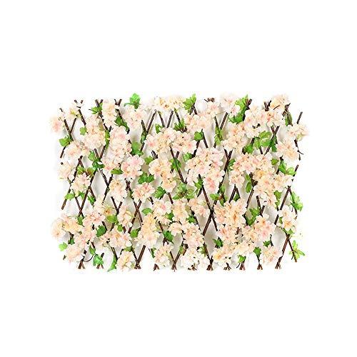 winnerruby Gartengitter Erweiternder Holzgitterzaun Versenkbarer Weidenholzzaun Mit Kirschblüten Blütenblätter Falten Erweiterbarer Holzgitter Sichtschutz Für Kletterpflanzen