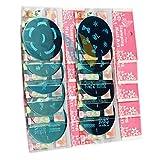 teng hong hui 10pcs Sello del Arte del Clavo de la Placa de estampación Sistema de Herramienta de pulir Stamper Placa de estampación Diseño de uñas Kit de manicura Herramientas Mezclar diseños