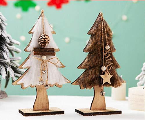 Decoraciones navideñas Regalos luminosos Adornos Estilo nórdico Escena colgante Casa pequeña Estrella Adornos para árboles de madera