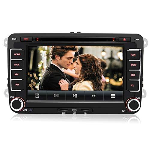 AWESAFE Autoradio mit Navi für Volkswagen Seat und Skoda, 2-Din Radio mit 7 Zoll Touchscreen...