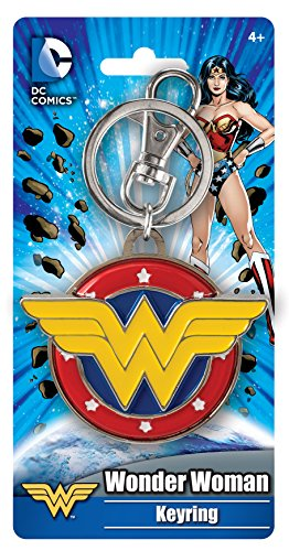DC Comic Porte-clés Wonder Woman en étain coloré - 7,6 cm