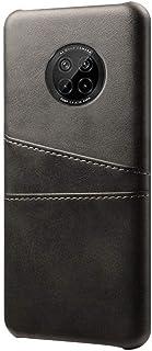حافظة هواوي Y9A UEKING مع 2 حامل بطاقة الهوية غطاء جلدي فاخر من البولي يوريثان واقي للصدمات نحيف - أسود