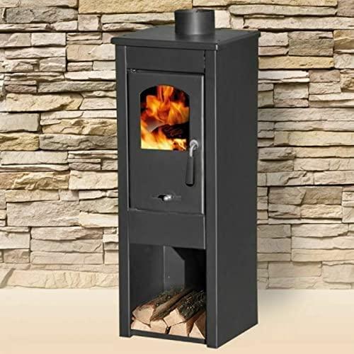 Stufa a legna/Termocamino in acciaio e ghisa 5/7 kW - Mod. Long Hold Fire (Cod. 5565)