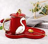 ZHENXI Cup Coffee Mug for Home Kitchen Office,Cappuccino,Tea,Porcelain Tea Mug Set,400ML-B